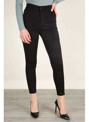 Z Giyim Yüksek Bel Esnek Dar Paça Kot Pantolon Siyah